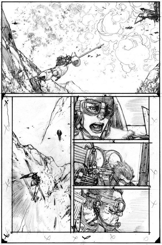 Wild Blue Yonder Issue 5 Page 9 Pencils by Spacefriend-KRUNK on deviantART