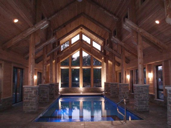 Indoor Swimming Pools Log Homes And Swimming Pools On Pinterest