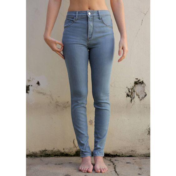 calça jeans - cintura alta - skinny - calças yesiam jeans