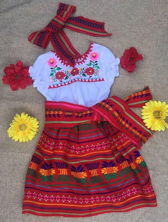 Vestidos Mexicanos Para Niñas Modernos Con Tela De Rebozo En