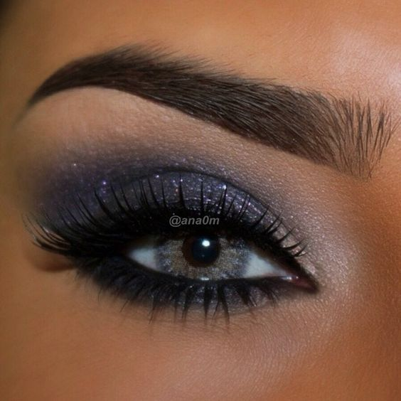 Blue smokey eye makeup tumblr