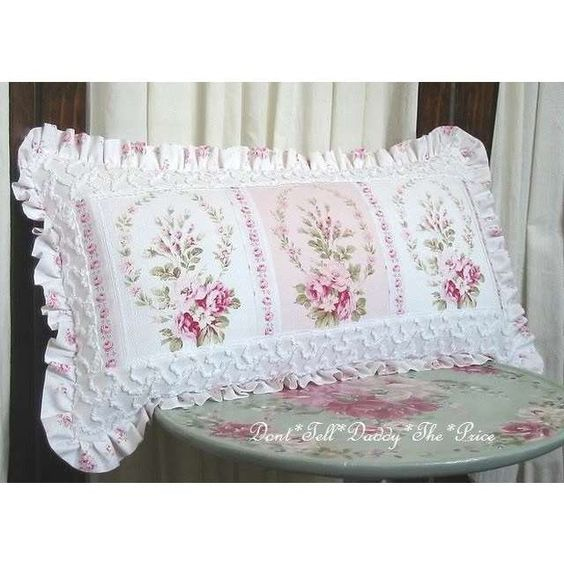 Shabby chic pillows, Romantic cottage and Shabby chic on Pinterest