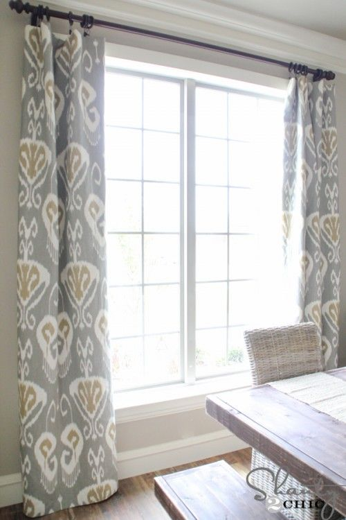 DIY Lined Window Panels Tutorial from Shanty 2 Chic