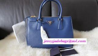Prada Saffiano in Blue $326 http://www.jessyjadebag.cn