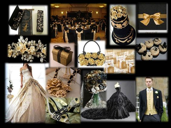 Gold And Black Wedding Ideas: Black Gold Weddings, Gold Wedding Theme And Black Gold On
