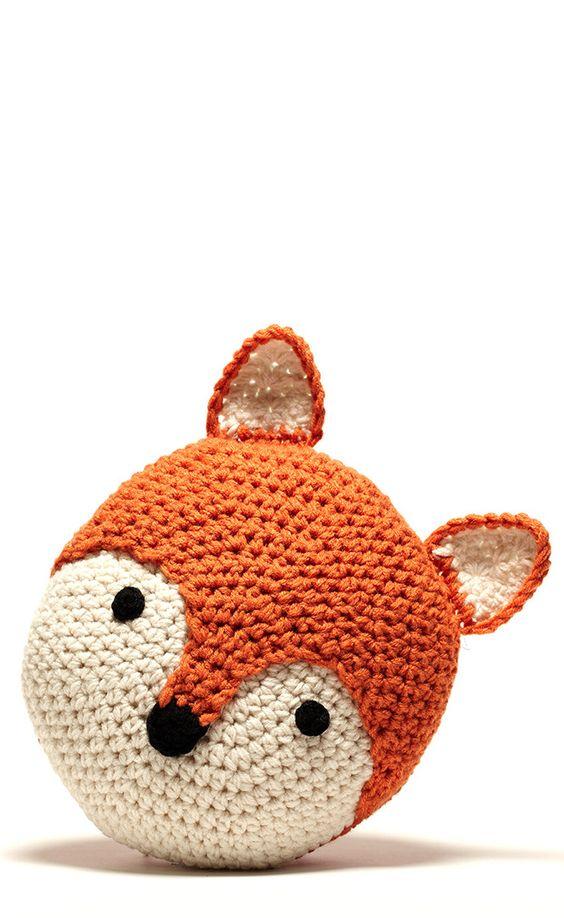 jesień poduszka lis handmade die własnoręczna