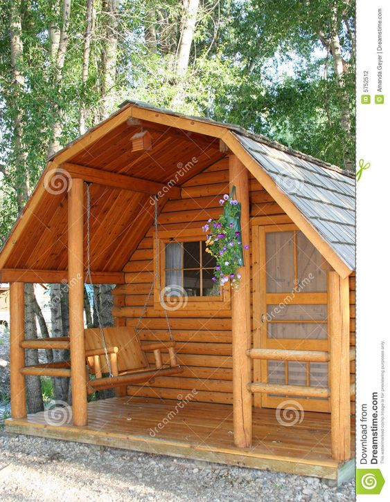 Wood cabins  Cabin and Free images on PinterestSmall Cottage House Plans   Porches   Small Wood Cabin Stock Photography   Image