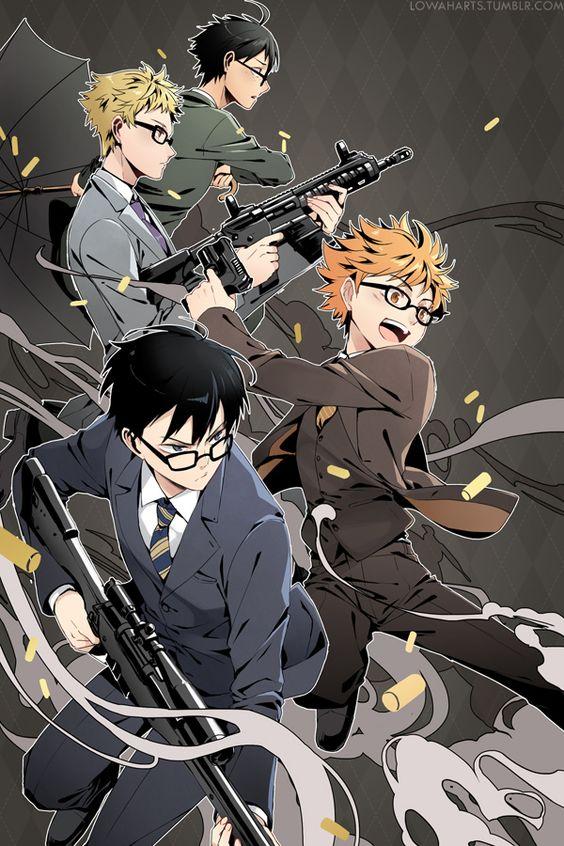 kagehina + tsukkiyama + guns = laifu