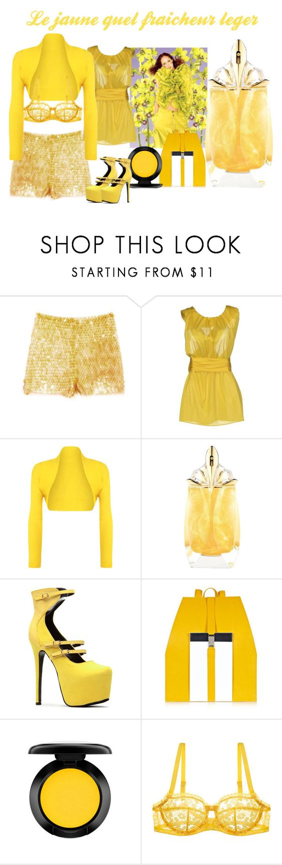 """""""Freshness Light"""" by deloysfashions ❤ liked on Polyvore featuring Opening Ceremony, Emilio Pucci, WearAll, Thierry Mugler, Hemsley London, MAC Cosmetics and Huit"""