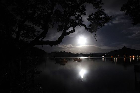 Full Moon Harbour by Tonyfoster, via Flickr