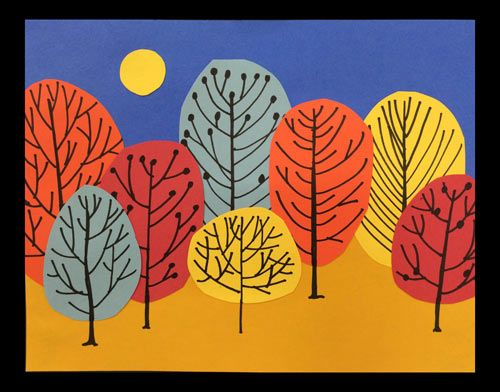 Fall collage - borrowed the idea from a great art teacher - and used it with my special needs students. They loved it! I included step-by-step