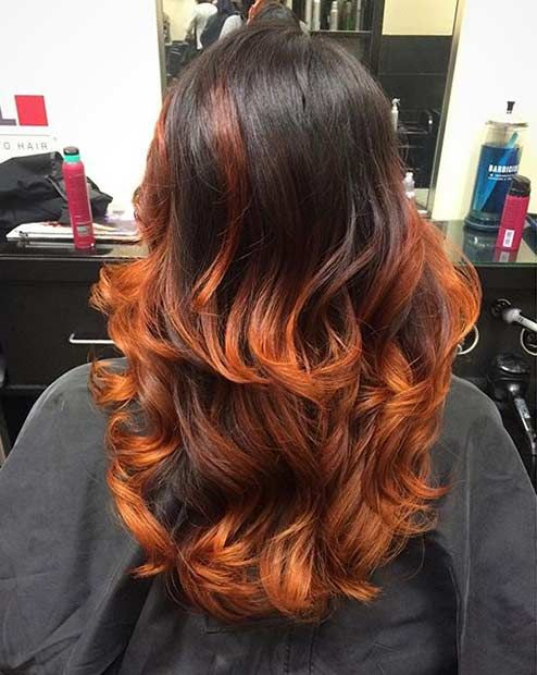 25 Copper Balayage Hair Ideas For Fall Page 2 Of 3 Stayglam Balayage Hair Copper Balayage Hair Copper Balayage
