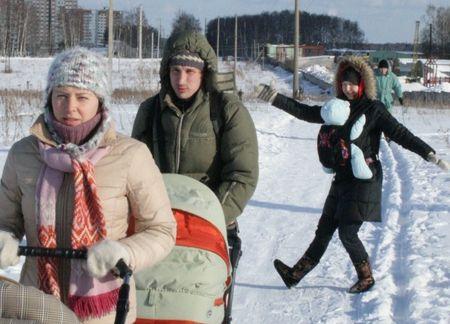 Слинг зимой
