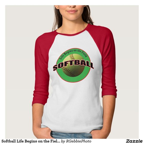 Softball Life Begins on the Field Player T-Shirt - $34.15 - Softball Life Begins on the Field Player T-Shirt - by #RGebbiePhoto @ #zazzle - #Softball #Life #Ball - Batter Up! Life Begins on the Field. Softball player? Softball coach? Softball sports fans love our sport line! A safety yellow softball, photograph taken in natural light.