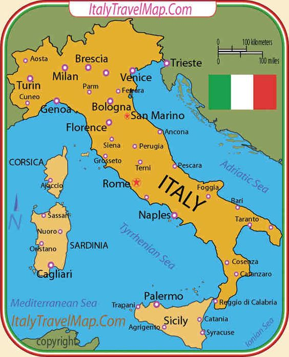 italy map – Italy Tourist Attractions Map