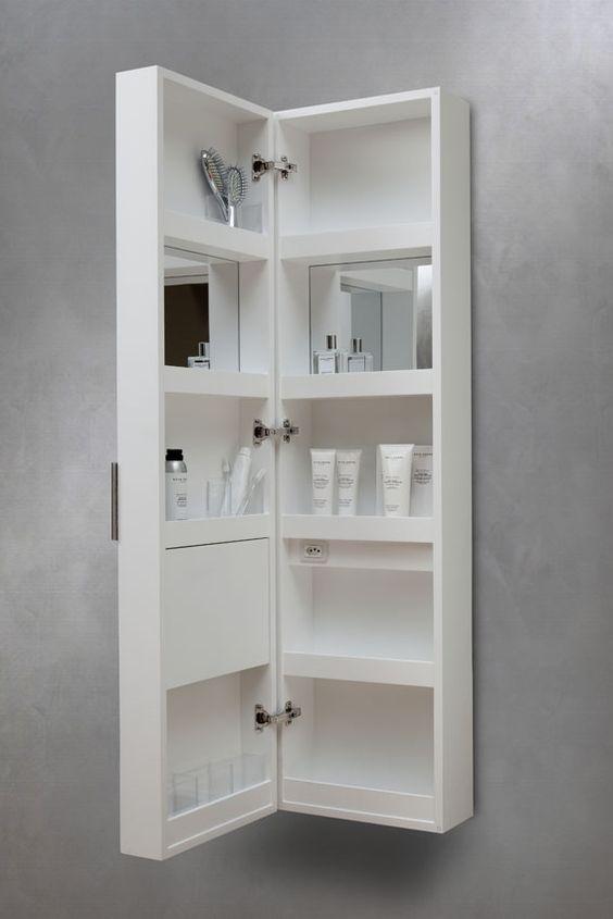 Armário Farmacia da Vallvé oferece praticidade e melhor aproveitamento de esp -> Armario De Banheiro Suspenso