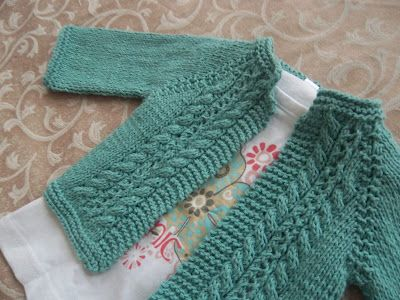Free Knitting Pattern Baby Cable Cardigan : Jadore knitting: free pattern Knitting Pinterest ...