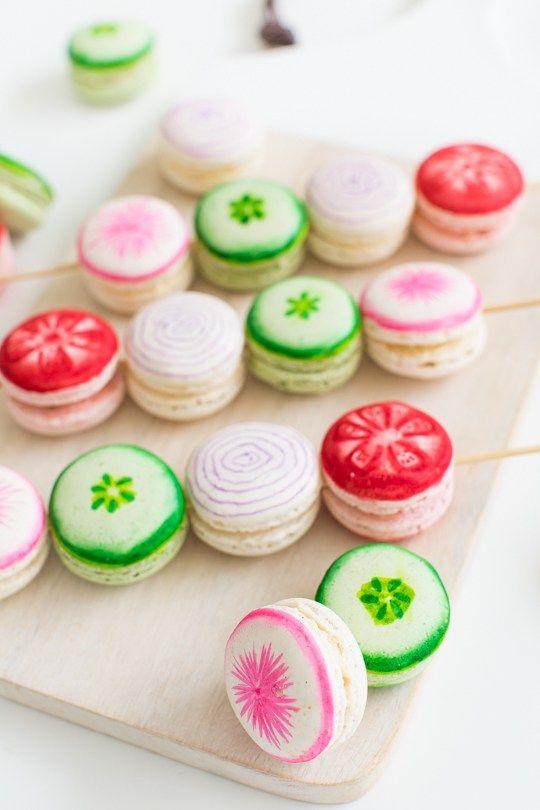 DIY veggie kabob macarons - Sugar & Cloth: