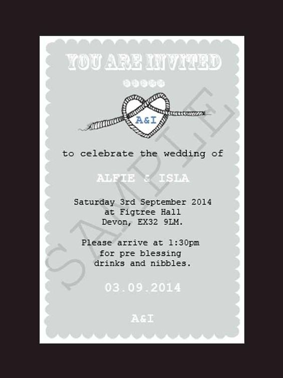 Printable and Personalised Tying The Knot Wedding Invite  Announce your celebration to your friends and family with our quirky personalised and printable Tying the Knot wedding stationery.    Save those all important pennies for more important things whilst still looking great with our digital personalised and printable wedding stationery.    Matching items available.    Different colour options available please contact us to discuss!