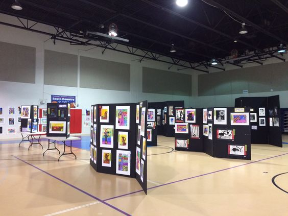 "Art Festival 2014-15, We have just completed our 2014-15 school Art Festival! Here are some pictures of the layout & artwork. I will have some posts coming with new lesson plans! I made a fun paint can center piece for the refreshment table, we added balloons too (didn't get a picture of the completed tables) & it looked so cool! Some parents brought palette themed cookies that were SO adorable!! We had a great turn out & did a new fundraiser that we called ""Paint a Pendant"" where anyone…"