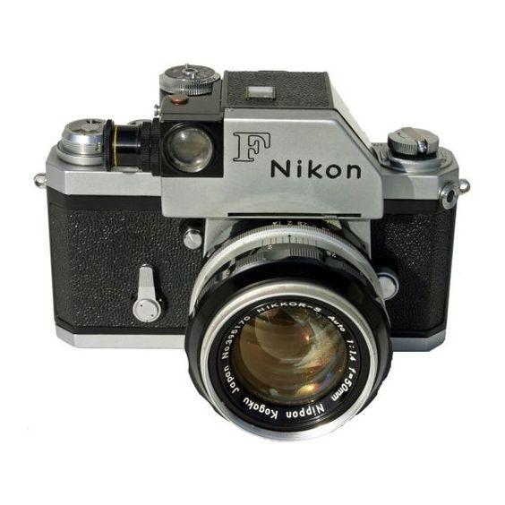 As grandes câmaras fotográficas do século XX: a Nikon F ❤ liked on Polyvore featuring camera, accessories, electronics, extra and gadgets