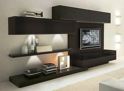 Modular lcd rack panel tv moderno living progetto mobili for Decoracion living moderno