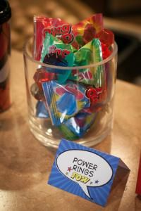 Superhero Party. Power Rings.