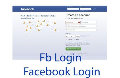 Fb Login Facebook Login Fb Login Facebook Help Login