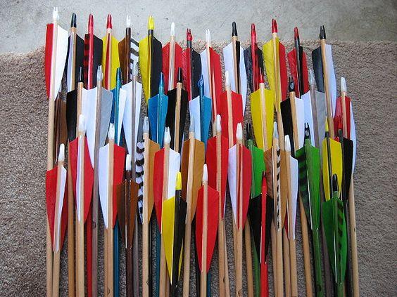 Wooden arrows. by neovictorian, via Flickr