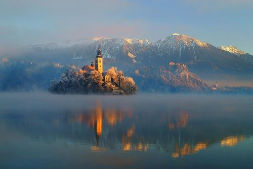 lake Bled, in the Julian Alps in northwestern Slovenia - photo by Janez Tolar