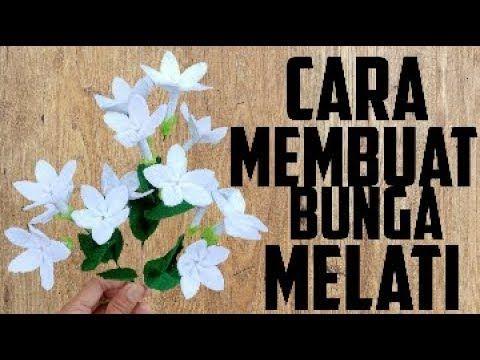 How To Make Felt Jasmine Flowers Cara Membuat Bunga Melati Dari Kain Flanel Youtube Felt Flowers Diy Felt Flowers Flower Making