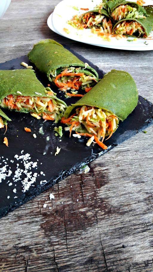 PRAZERES SAUDÁVEIS: Crepes de Espinafres com Legumes (S/Glúten)
