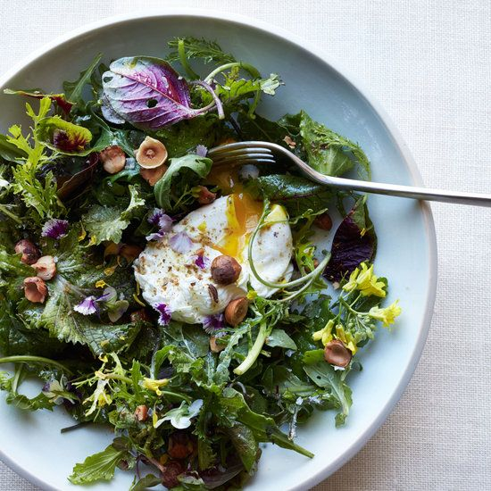 and nut salad easy poached egg salad french frisée salad with bacon ...