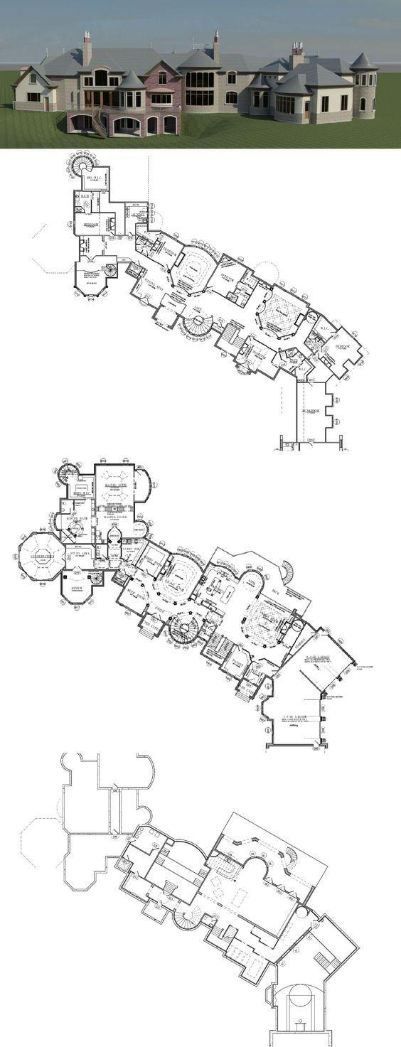 25 000 Square Foot Mansion W Floorplans Mansion Floor Plan Architectural Floor Plans Mansion Plans