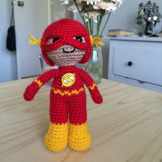 Free Amigurumi Superhero Patterns : The flash, Plush dolls and Amigurumi on Pinterest