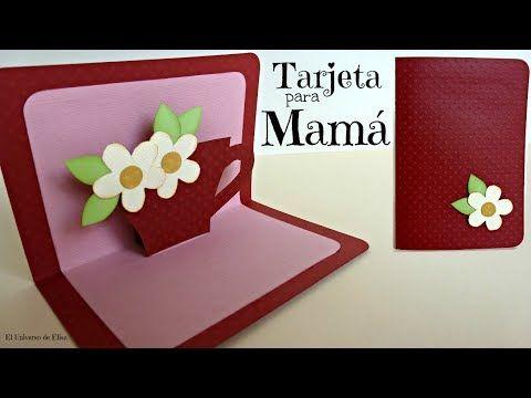 Tarjeta Para Mama Tarjeta Para El Dia De La Madre Tarjeta Pop Up Facil Youtube Tarjetas Para Mama Tarjetas Caseras Tarjetas De Cumpleanos Hechas A Mano
