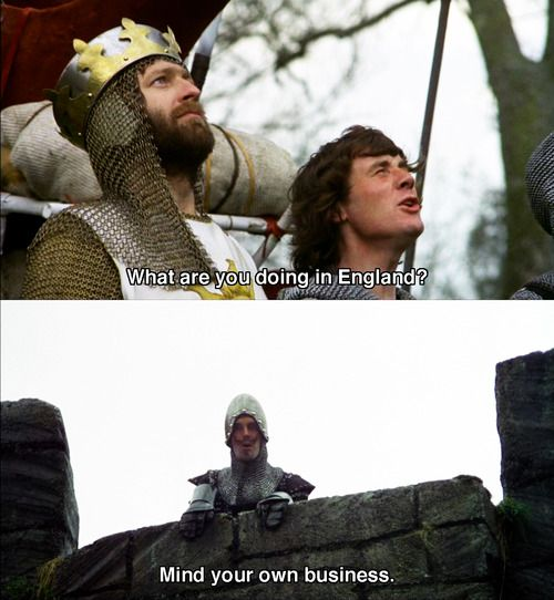 Monty Python and The Holy Grail.  Best. Movie. Ever.: