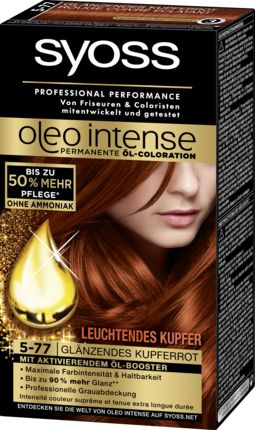 die permanente l coloration syoss oleo intense glnzendes kupferrot 5 77 optimiert das farbergebnis - Syoss Coloration