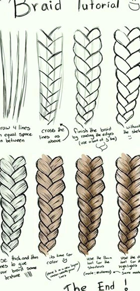 40 Easy Step By Step Art Drawings To Practice Bored Art In 2020 How To Draw Braids How To Draw Hair Drawing Hair Braid