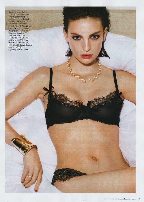 Coco silk bra set   in Harpers' Bazaar Australia