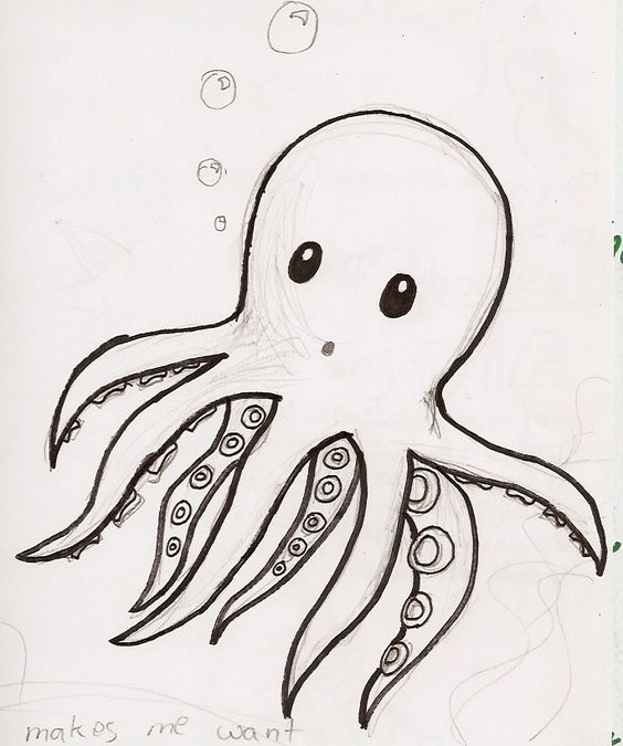 cute octopus drawing tumblr food wallpaper colouring