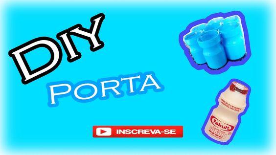 DIY Porta Treco DE (Potinho de Iogurte)