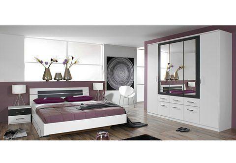Home affaire 3-teiliges Schlafzimmer-Set »Emden«, Bett 90 200 - schlafzimmer set günstig