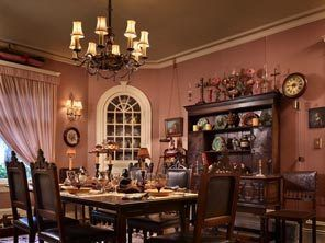 Dusty rose walls dining room my home pinterest for Dusty rose wall color