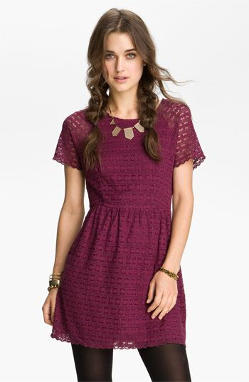 Love the berry color - Free People 'Candy' Lace Dress | Nordstrom