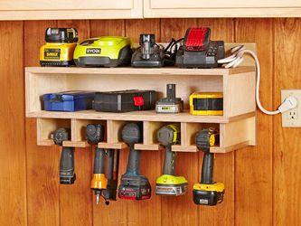 Cordless Tool Station Woodworking Plan, Workshop & Jigs Shop Cabinets, Storage, & Organizers Workshop & Jigs $2 Shop Plans