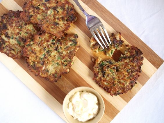 Mussel Fritters - Fritters made out of mussels and courgettes