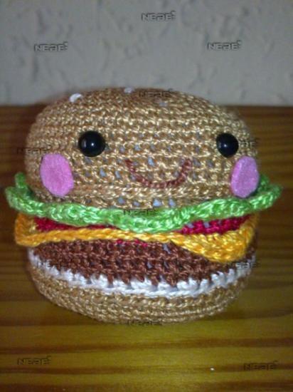 Amigurumi hamburguesa