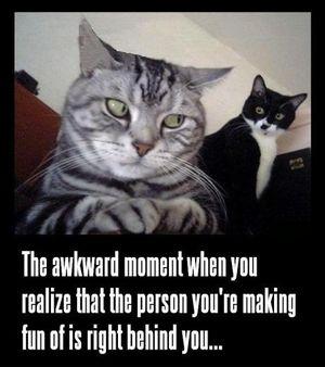 The awkward moment....