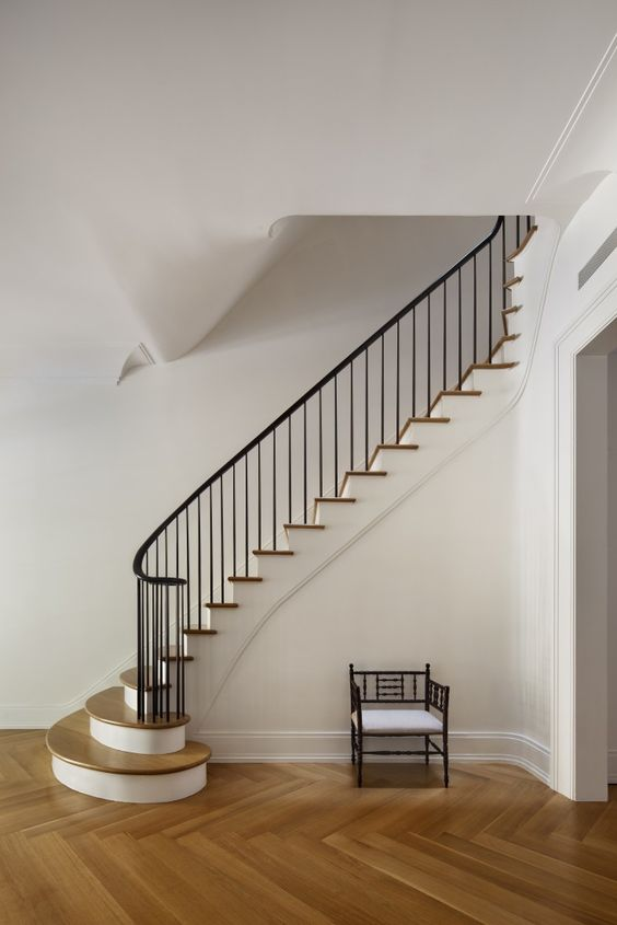 A Brownstone For The 21st Century Curves Staircase